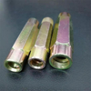 RB Round Long Coupling Nut Yellow Zinc Plated