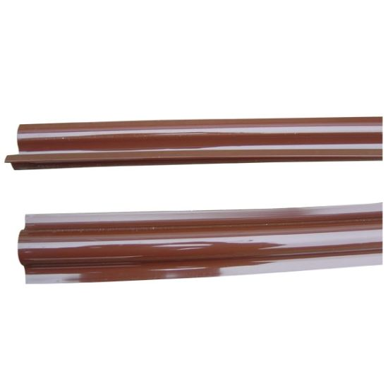 Riser Guard in Brown PVC for Cable Installation
